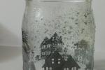 Lanterna di vetro con paesaggio barattoli di vetro