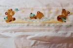 Lenzuolino punto croce con orsetti