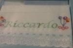 Lenzuolino personalizzato punto croce per carrozzine