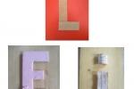 Lettere alfabeto per comporre parole, nomi, ecc.