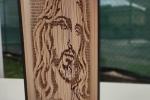 Ritratto di Gesù creato con la tecnica del bookfolding