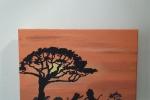 Lions and safari Tela 20x30