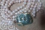 Lunghissima collana di perle vere di acqua dolce