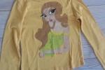 Maglietta cotone giallo dipinta a mano