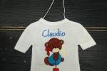 Maglietta macchina personalizzata con ricamo