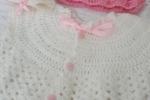 Maglioncino rosa bebe per primi mesi, in lana