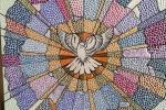 Mandala su tela - Colomba di pace