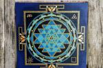 """Mandala su tela - Tecnica di pittura """"a punti"""" - 30 x 30"""