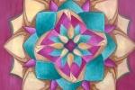 Mandala in compensato di pioppo