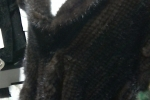 Mantella tricot visone demi buff taglia 46 marrone scuro