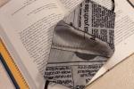 Mascherina fashion cotone fantasia giornale