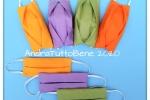Mascherine in cotone con tasca porta filtro lavabili