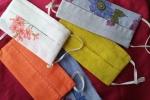 Mascherine in fibre naturali e tasca porta filtro lavabile