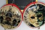 Maxi orecchini in legno, perline e cristalli Venezia