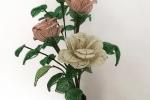 Mazzo di rose in perline