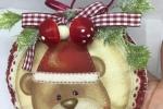 Medaglione in pannolenci con orsetto
