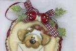 Addobbo in pannolenci da appendere con immagine stampata il cane