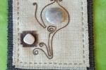 Mini pannello decorativo in stoffa d'arredo