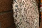 Mosaico su piatto di vetro con cd