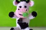Mucca Amigurumi con campanella