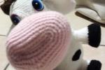 Mucca Carolina amigurumi con cappello removibile