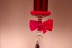 Natale nel bichiere centrotavola con candela