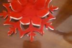 Stella natalizia in feltro
