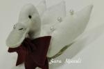 Oca in tessuto con fiocco