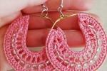 Orecchini a cerchio con perline vari colori