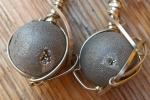 Orecchini Agata, Minimalist, Pietre, Materiale alpacca