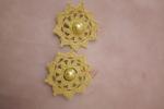 Orecchini gialli all'uncinetto varie forme