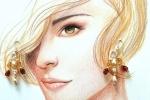 Orecchini assemblati con perline color ambra e perle di fiume