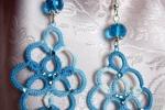Orecchini azzurri al chiacchierino, cristalli azzurri