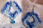 Orecchini azzurri al chiacchierino, cristallo azzurro