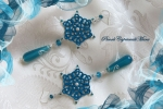 Orecchini azzurri, gocce in agata azzurra