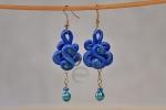 Orecchini blu con perline
