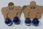 Orecchini boccette blu fatti a mano con perline in acrilico