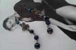 Orecchini bronzo e blu