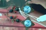 Orecchini cammeo blu