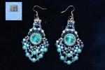 Orecchini cascata di perle color Tiffany