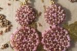 Orecchini Cerchio composti da due cerchi di perline