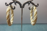 Orecchini cerchioni- tecnica tessitura tubolare di perline