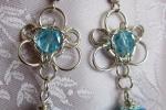Orecchini chainmail in Argento 925 e cristalli azzurri