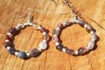 Orecchini con agata del botswana e perline rocailles