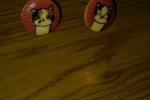 Orecchini in legno, interamente fatti a mano bottoni