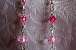 Orecchini con cristalli rosa e Argento 925