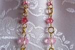 Orecchini con cristalli rosa e Oro Gold-Filled 14k