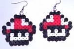 Orecchini con funghetti SuperMario in hama beads