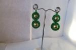 Orecchini con perle colore verde