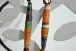 Orecchini con perline di carta più colori